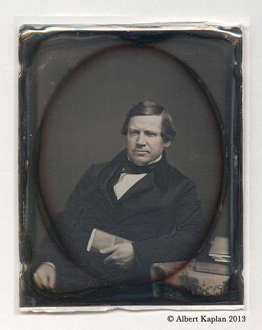 Stephen A. Douglas Daguerreotype Lateral Image